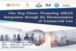 Seminar One Step Closer: Promoting ASEAN integration through the Harmonization of Commercial Laws