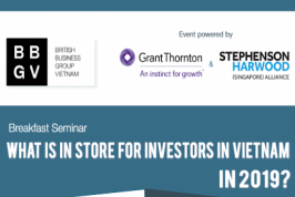 [HCMC] Breakfast Seminar - What is in store for Investors in Vietnam in 2019?
